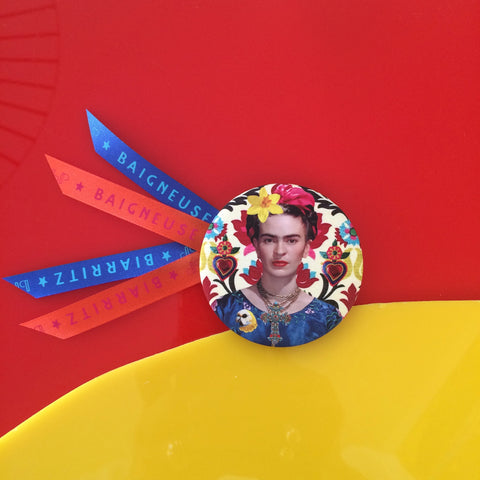 Badge 56mm Frida tapisserie
