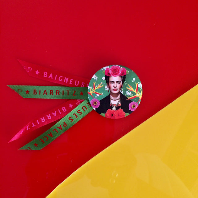 Badge 45mm Frida verte