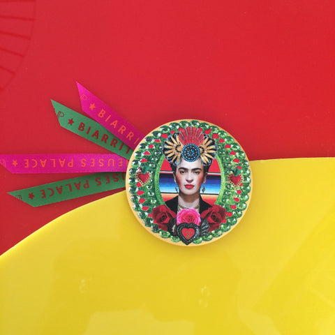 Badge 63mm Frida inca verte