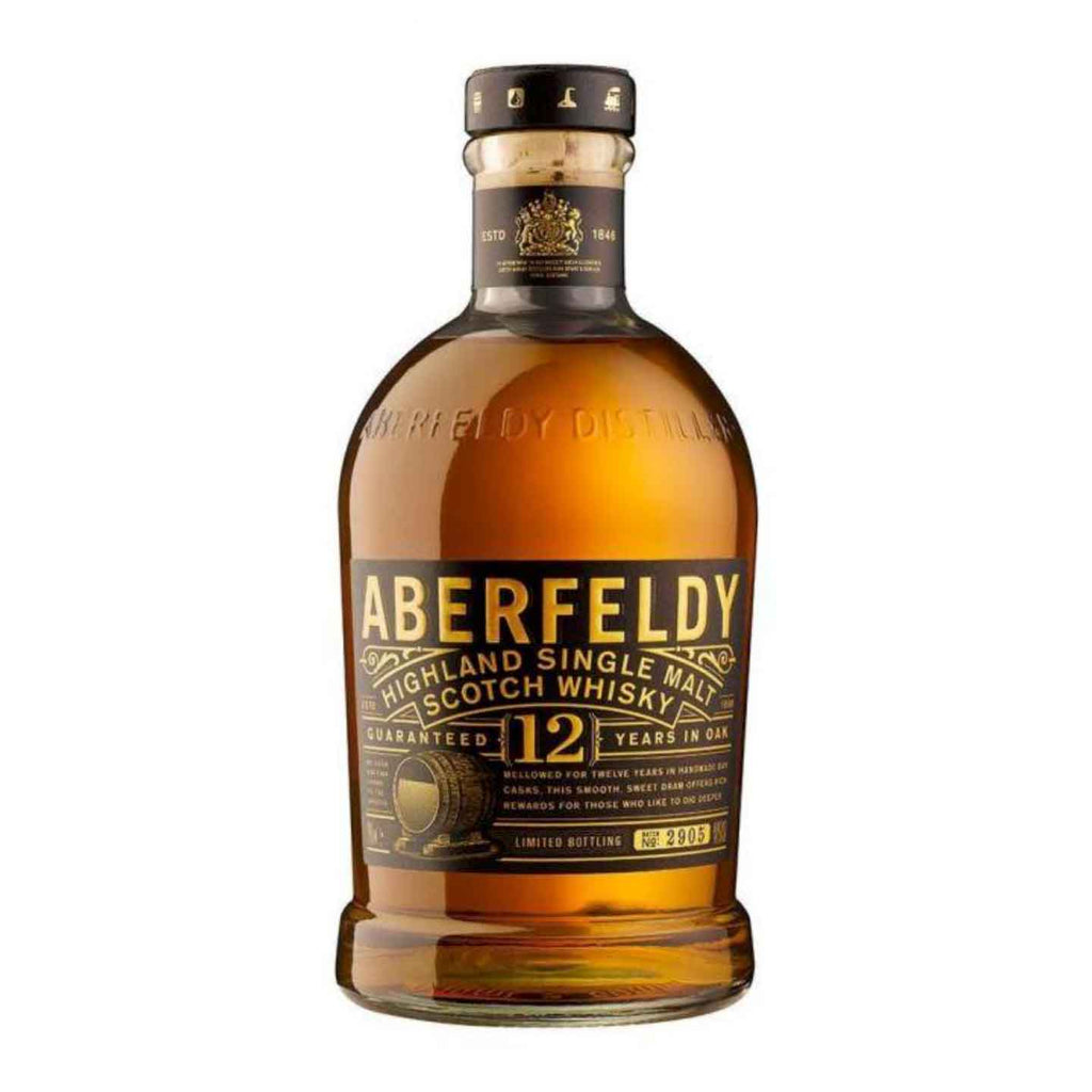 Aberfeldy 12 Year Single Malt Scotch by Dewars 750mL
