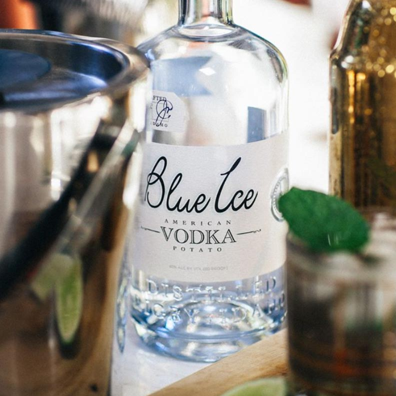 Blue Ice Vodka 750mL
