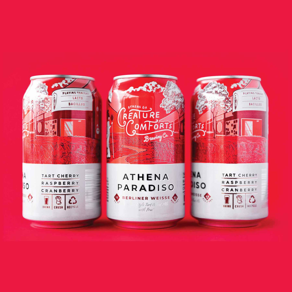 Creature Comforts Athena Paradiso with Tart Cherry, Raspberry & Cranberry 6pk