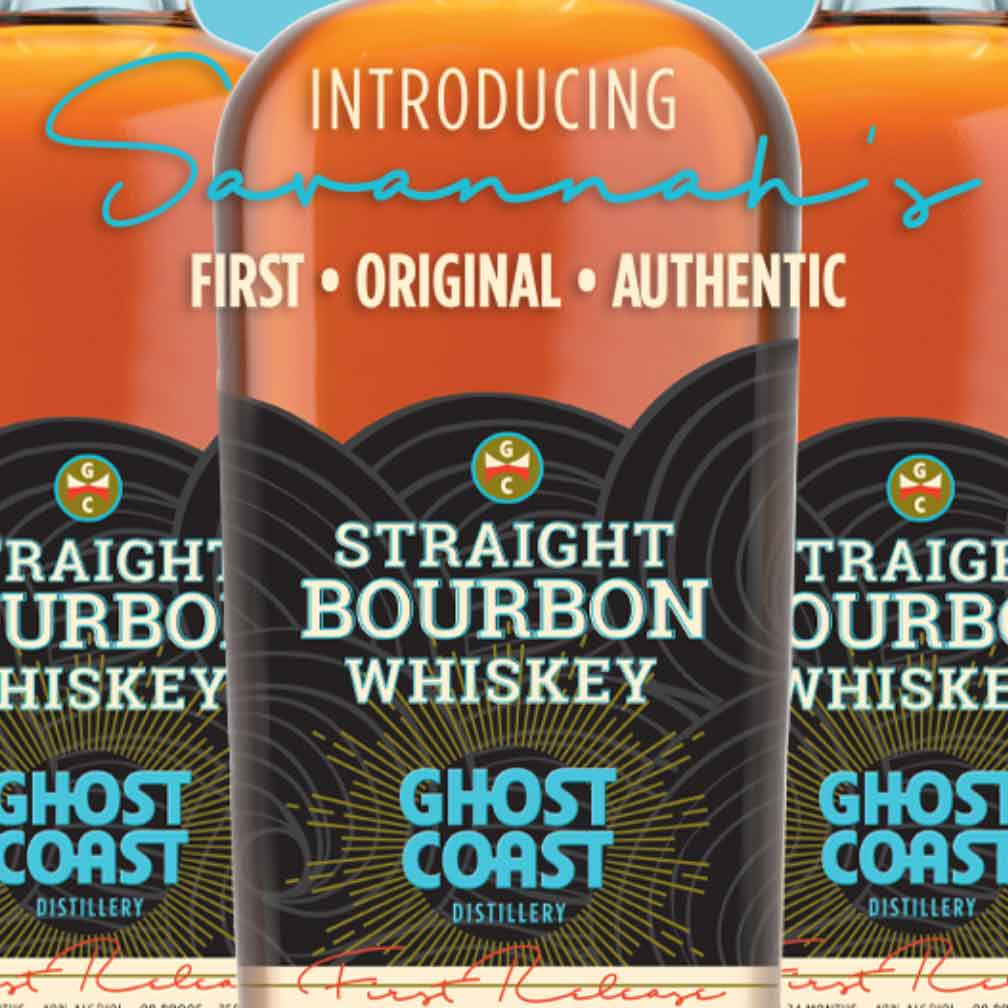 Ghost Coast Straight Bourbon Whiskey First Release 750mL
