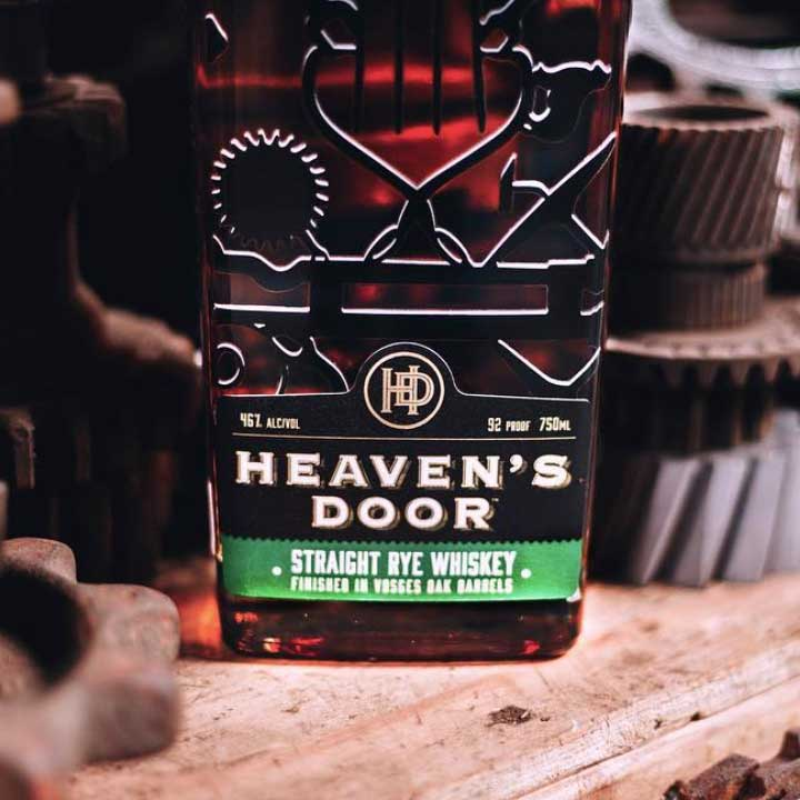 Heaven's Door Rye Whiskey Finished in Oak Cigar Barrels
