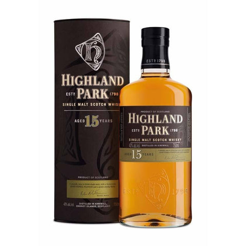 Highland Park 15 Year Single Malt Scotch 750mL