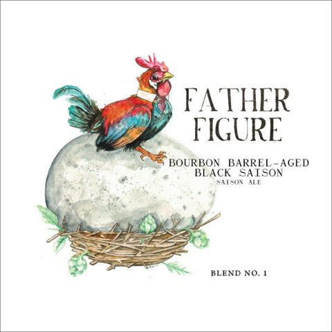 Monday Night Brewing Father Figure Barrel Aged Black Saison 500mL