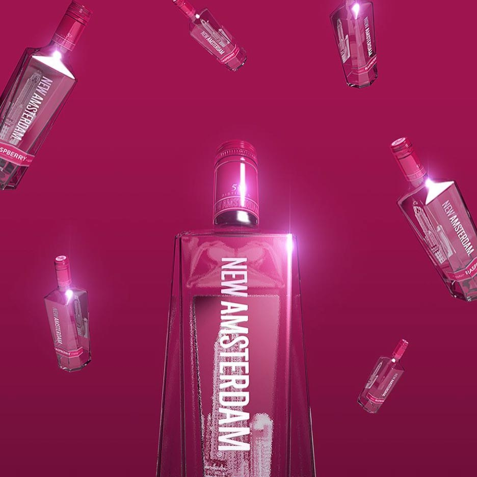 New Amsterdam Raspberry Vodka 750mL