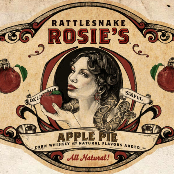 Rattlesnake Rosie's Apple Pie Corn Whiskey 750mL