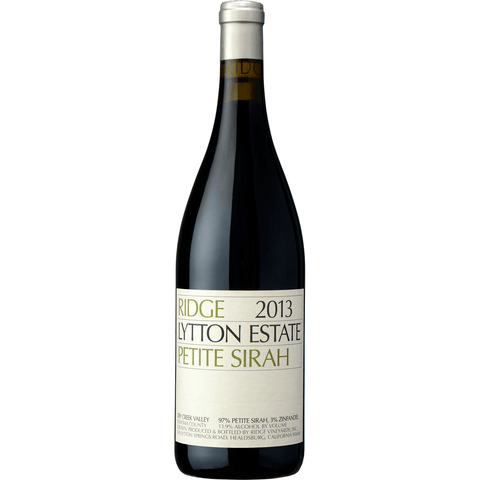 Ridge Lytton Estate Petite Sirah 2014