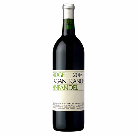 Ridge Pagani Ranch Zinfandel 2015