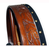 16″ Rosewood Hand Carved Bodhrán Drum - Side View