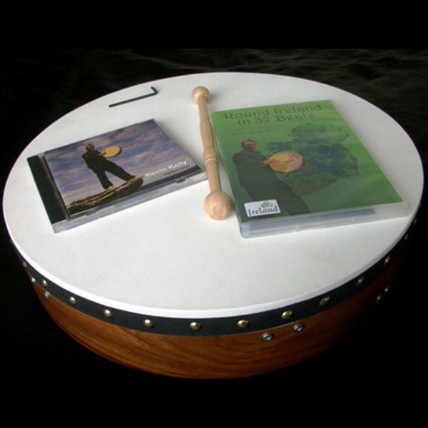 Tuneable Irish Bodhran with Bodhran Lessons DVD and Music Album