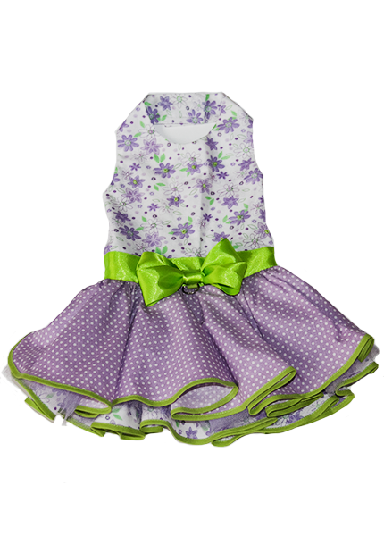 Floral Dress Purple & Green