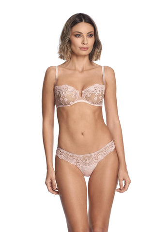 Embroidered tulle brief
