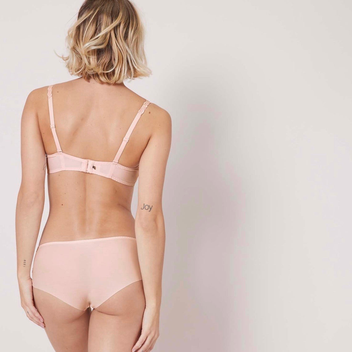 SAGA DEMI SHEER BRA IN BLUSH
