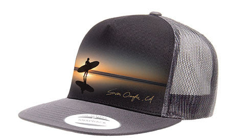 SAN O SUNSET 5 PANEL TRUCKER HAT