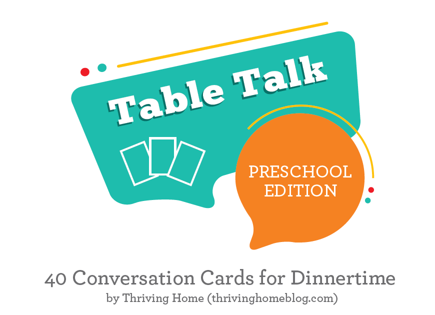 Table Talk Cards: Preschool Edition