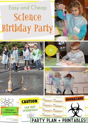 Science Birthday Party Printable Pack