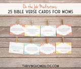 On the Job Meditations for Moms: 25 Bible Verse Cards
