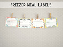 Freezer Meal Labels: Style Two