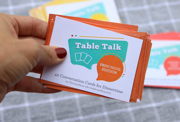 Table Talk Bundle: All Three Sets (Preschool, Elementary, and Tweens & Teens)