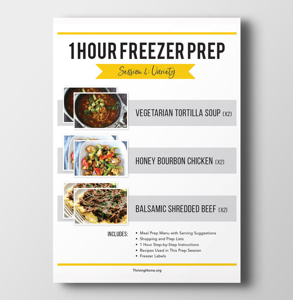 1 Hour Freezer Prep: Session 4
