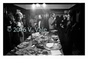 Photo print: Ginsberg and friends at a dinner party
