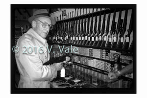 Photo print: William S. Burroughs at the Gun Store