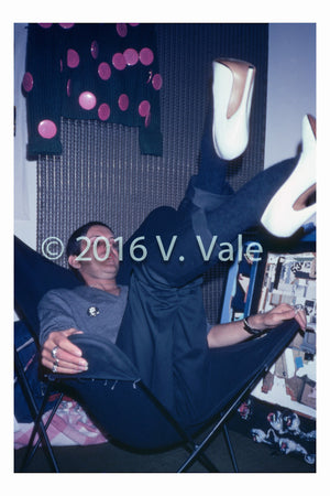 Photo print: Genesis P Orridge in Heels