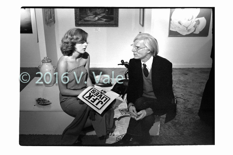 Photo print: Andy Warhol with Carol Doda