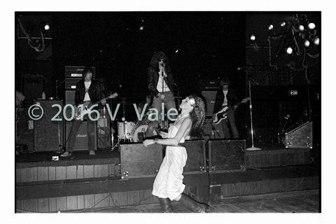 Photo print: Ramones with unidentified dancer