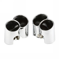 Porsche 996 Turbo Muffler Tips Schnell V2 Chrome