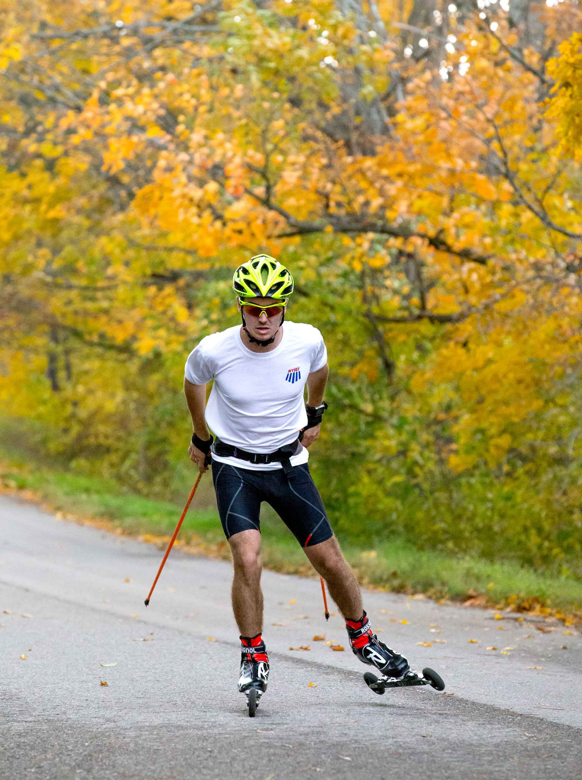 Kieran Jones Roller Skiing in October