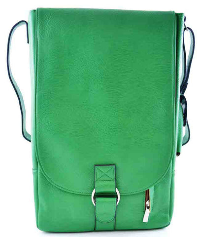 Green Two Bottles Faux Leather