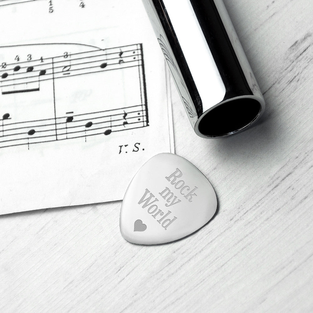 Personalised Romantic Engraved Plectrum