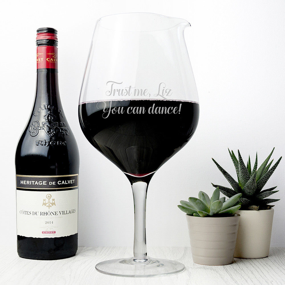 Personalised Jumbo Wine Glass