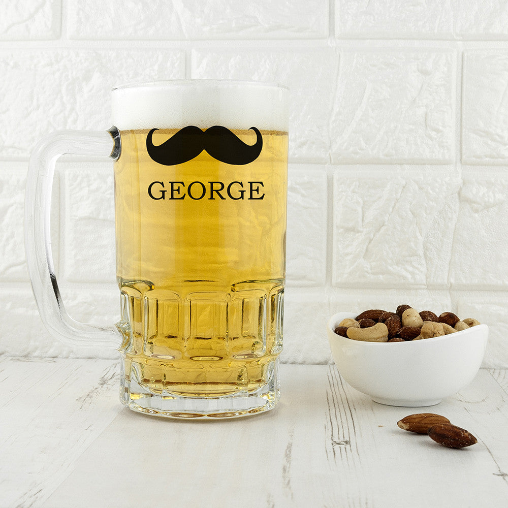 Personalised Moustache Beer Tankard Birthday Gift for Him