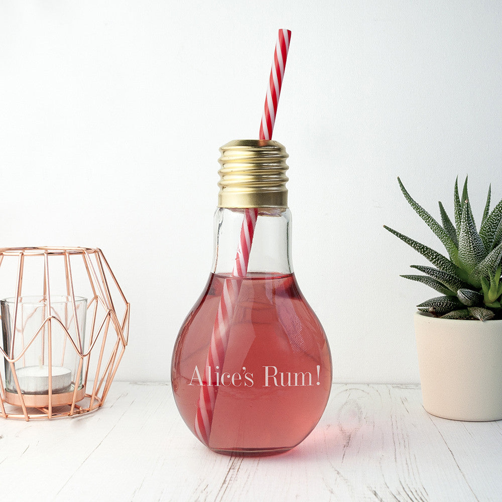 Personalised Lightbulb Cocktail Glass