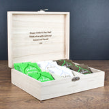 Personalised Gentlemen's Teas Wooden Birthday Gift Box for Him