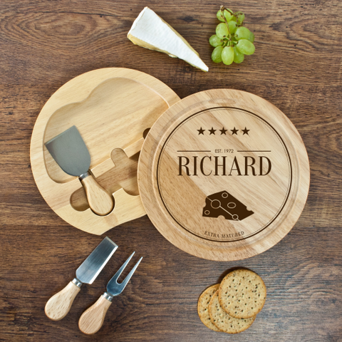 Personalised Extra Mature Cheese Board Set Father's Day Gift