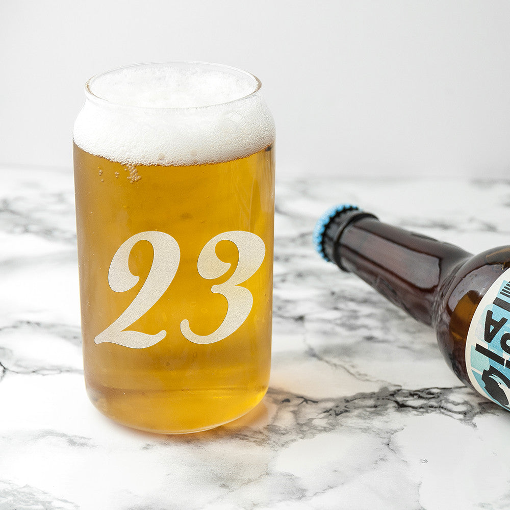 Personalised Birthday Beer Can Glass