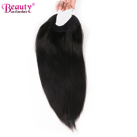 Invisible Wire Headband Hair Extensions Unprocessed Brazilian Virgin