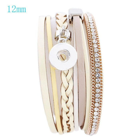 Layered Snap Bangle Bracelets