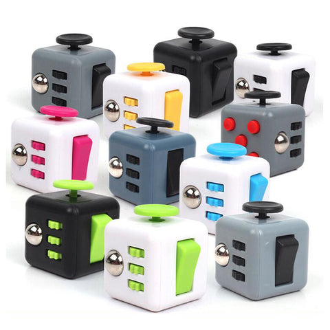 Fidget Anti-Stress Cubes for Adults or Children - Relieve Stress, Anxiety, and Boredom all at your finger tips