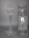 Deco Respiratory Hygiene Kiosk with Sign Sleeve