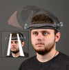 Flip Up Face Shield-- Adjustable Headgear (Two Replacement Shields, Two Replacement Pads)