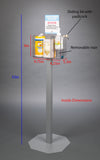 Stand Mount Sanitizing Station