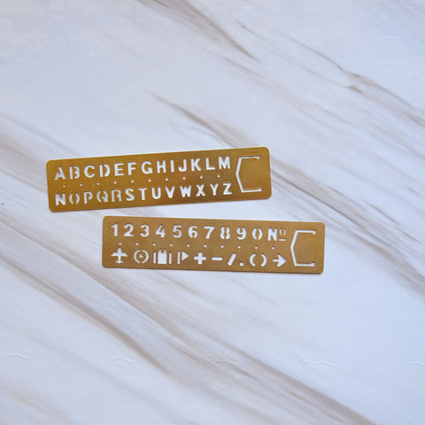 Brass Stencil Bookmark - Set of 2