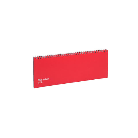 2018 Desk planner in red