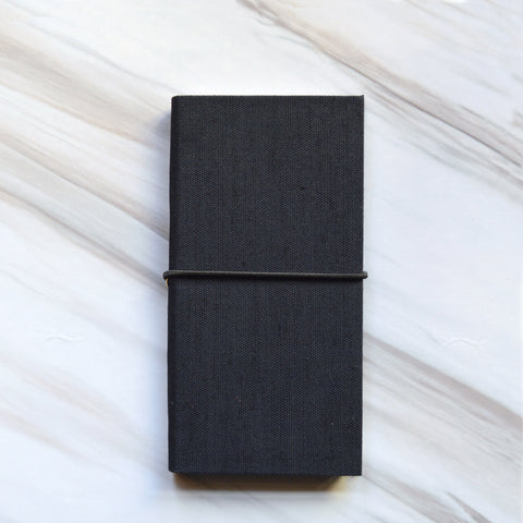 2018 Fede Linen Agenda with Elastic in Black